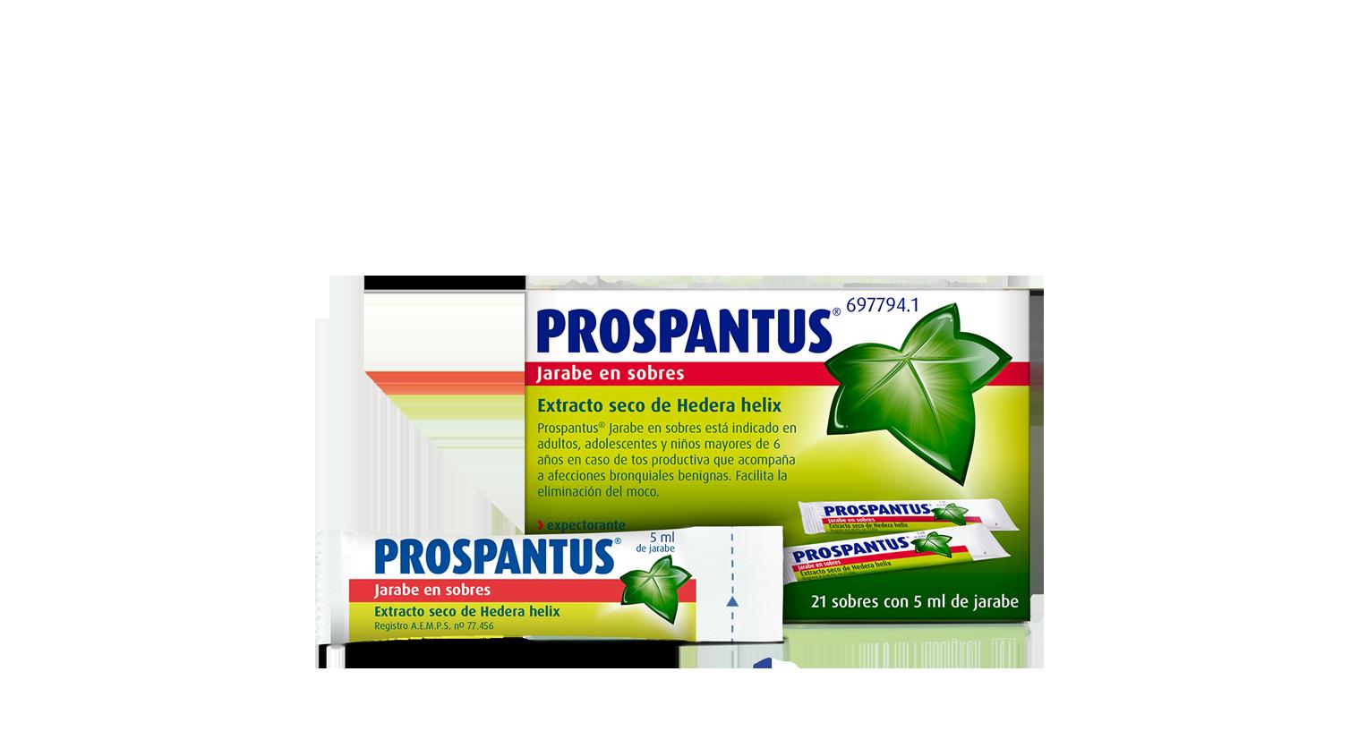 Sobres para tos productiva Prospantus